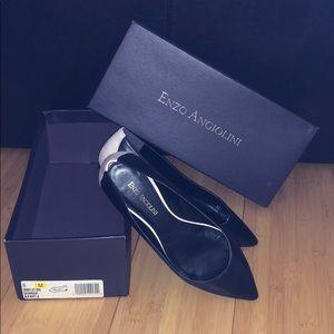 Enzo Angiolini - pointy toe flats - black